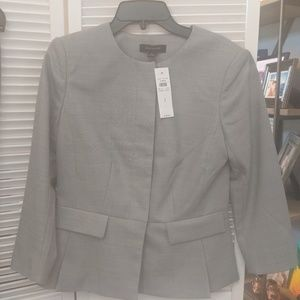 Gray Ann Taylor suit pants and jacket.